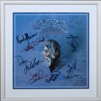 Eagles: Their Greatest Hits 1971-75, with cover art and lettering by Boyd Elder