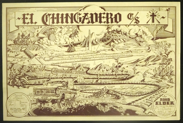 Boyd Elder's 'El Chingadero Show' poster by Rick Griffin.