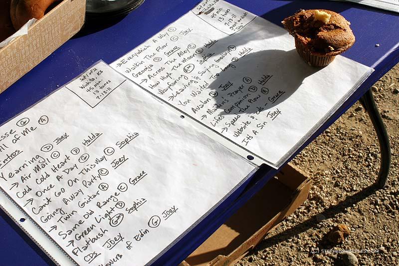 QSB setlist photo by Stephen K. Peeples