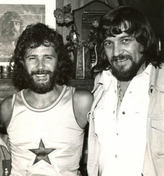 Ken Mansfield, Waylon Jennings, Laurel Canyon, between L.A. sessions for 'Are You Ready for the Country,' March 1976. Photo courtesy Ken Mansfield.