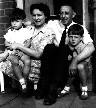 Mary and Jim McCartney, with Mike and Paul.