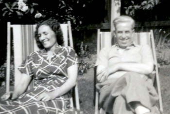 John Lennon's Aunt Mimi and Uncle George Stanley.