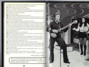 Last page of the John Lennon, Yoko Ono and Jerry Rubin Q&A