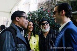 Herbie Hancock, Sheila E., Poncho Sanchez and Connor Hefner at Playboy Jazz Festival 2013 press conference