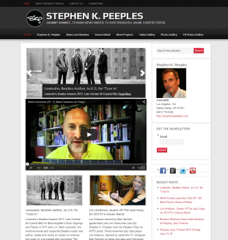Santa Clarita journalist Stephen K. Peeples home page