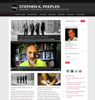 Santa Clarita journalist Stephen K. Peeples home page
