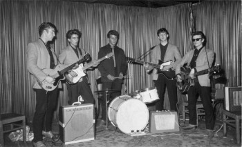 The Beatles at the Indra on their first trip to Hamburg, Aug. 17, 1960. Courtesy Aarkive Features.