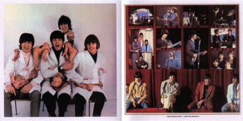 Gatefold inside of U.S. Beatles Rarities package, Capitol, 1980.