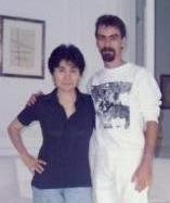 Yoko Ono and Stephen K. Peeples, The Dakota, June 1989. Photo: Sam Havadtoy.