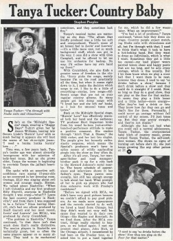 Tanya Tucker: Country Baby – Circus, June 1, 1976