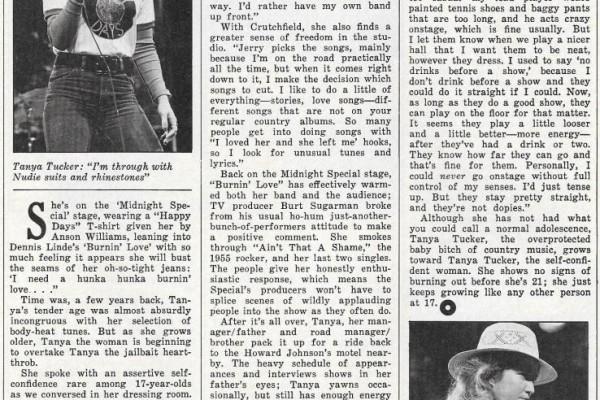 Tanya Tucker: Country Baby – Circus, June 1, 1976