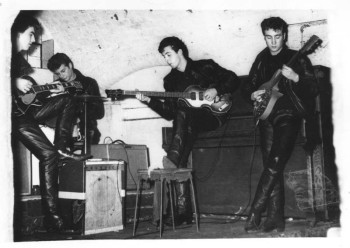 Lewisohn Beatles bio - The Beatles rehearse at the Cavern in Liverpool, circa 1961