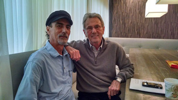 Al Schmitt (right) and Stephen K. Peeples at Capitol Studios on Dec. 2, 2014