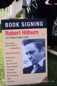 Robert Hilburn's 'Johnny Cash: The Life' poster at Johnny Cash Roadshow Revival 2014 in Ventura