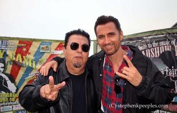 Cesar Rosas of Los Lobos and James Intveld at Johnny Cash Roadshow Revival 2014 in Ventura