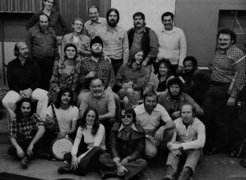 Doug Sahm and Band at Atlantic Studios in New York with producer Jerry Wexler. Photo: David Gahr