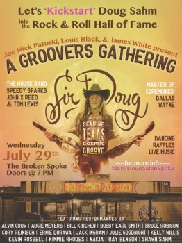 Groover's Gathering poster, Broken Spoke, July 29, 2015