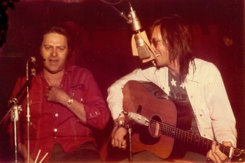 Huey P. Meaux and Doug Sahm, Sugar Hill Studios, Houston, 1974. Photo: Hank Lam.