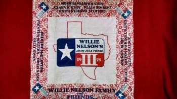 Willie Nelson 3rd Annual 4th of July Picnic bandanna, 1975