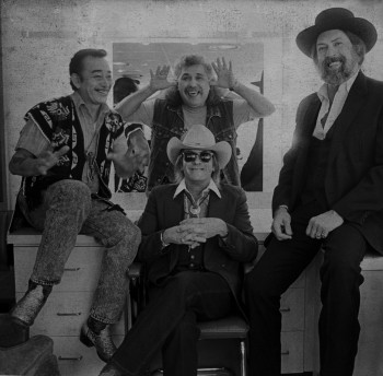 The Texas Tornados - Flaco Jimenez, Freddy Fender, Augie Meyers and (seated) Doug Sahm.
