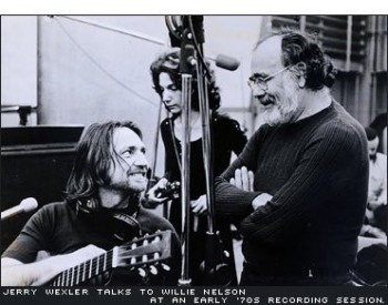 Willie Nelson, Jerry Wexler, Atlantic Studios New York, 1973