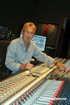 Al Schmitt at the board in Studio A, Capitol Studios, Hollywood. Photo: Stephen K. Peeples.