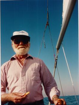 William A. Peeples II aboard Billow, Marina Del Rey, 1986