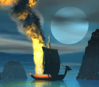 Viking funeral illustration