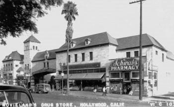 Schwab's postcard, Hollywood, 1940s