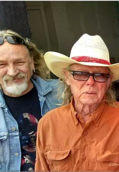 John Thornton and Boyd Elder, San Marcos, Texas, April 2015. Photo: Stephen K. Peeples.