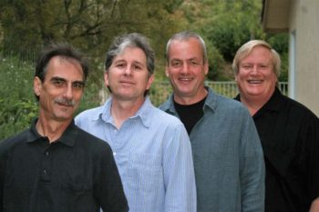 RainTree Jazz, Saugus, California, spring 2011: Stephen K. Peeples, Jim Hagen, Rod Bennett, Rusty Amodeo. Photo: Paige Hagen.