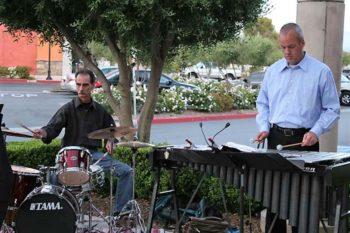 Stephen K. Peeples and Rod Bennett, RainTree Jazz, George's Bistro, May 21, 2011. Photo: Nadine A. Peeples.