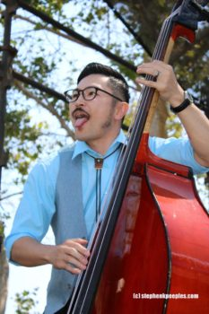 Inazuma bassist at Roadshow Revival 2016. Photo by Stephen K. Peeples.