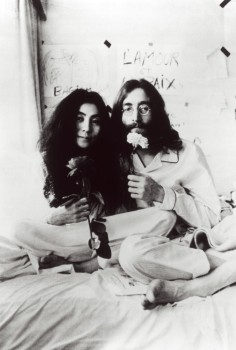 John Lennon & Yoko Ono Bed-In. Photo: Ivor Sharp.