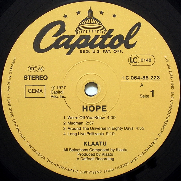 klaatu interview hope label germany