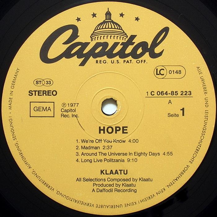 klaatu interview hope label germany