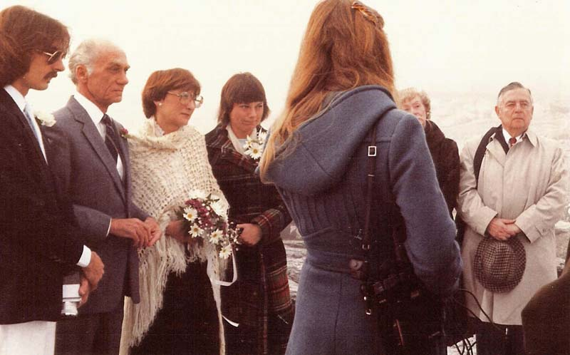 William A. Peeples and Marguerite Vauclair marry, March 25, 1982.