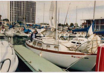 William A. Peeples II aboard Billow, 1986.