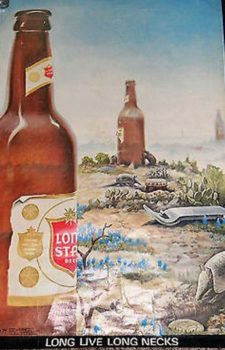 Lone Star beer poster by Jim Franklin