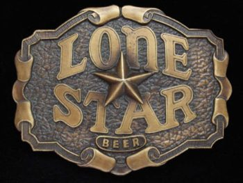 Lone Star Beer belt buckle opener