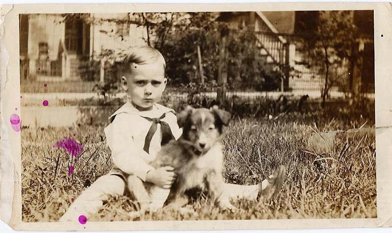William A. Peeples on his fourth birthday, June 16, 1925.