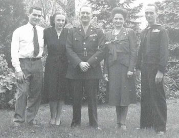 william a peeples family 1945