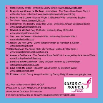 Mothers Day 2017 McGrath Komen Hope CD back