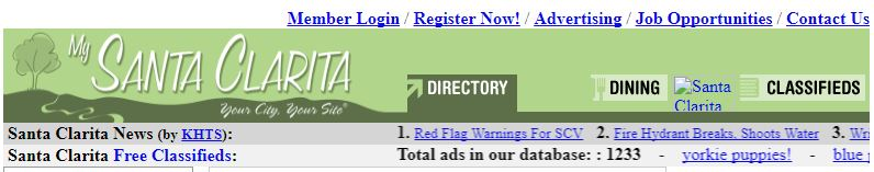 My Santa Clarita archive banner October 2007