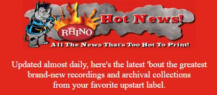 archive header for Rhino Hot News header, 1997