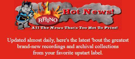Rhino Hot News header, 1997