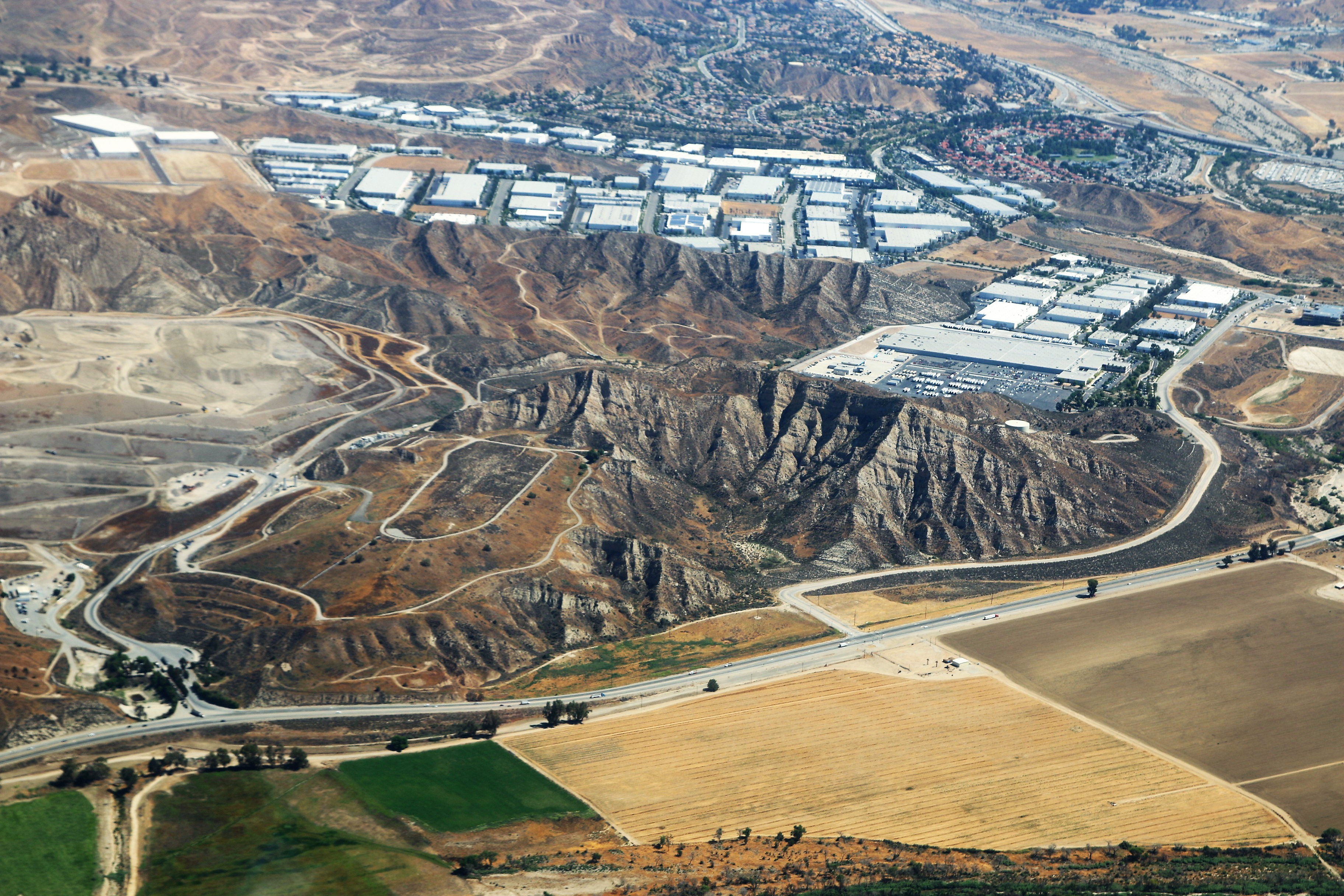 An Aerial View Of Undeveloped Newhall Ranch Property South Of Highway 126  In The Santa Clarita Valley On June 14, 2018. The Chiquita Canyon Landfill  Is On ...