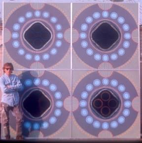 "Boyd Elder at his studio on Sunset Blvd. - ""Billy Al Bengston Meets Frank Stella at 5th + Main"" - 1966, Los Angeles."