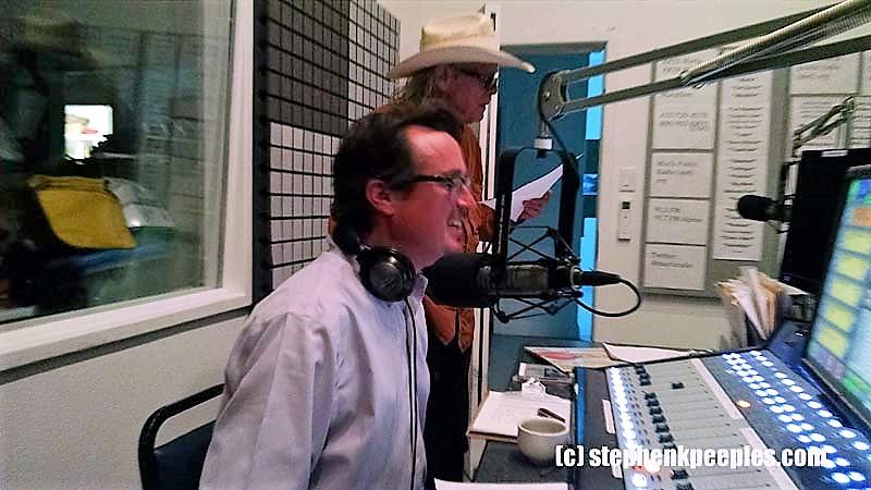 Boyd Elder reads the weather on Marfa Public Radio, April 2015.