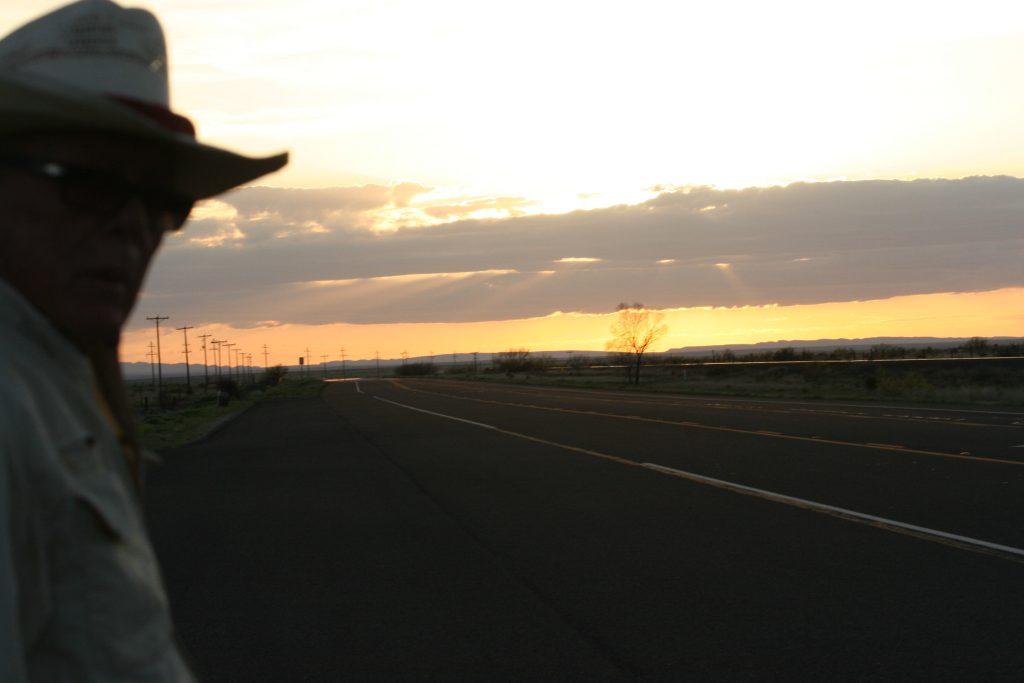 West Texas sunset selfie by Boyd Elder, April 2015.